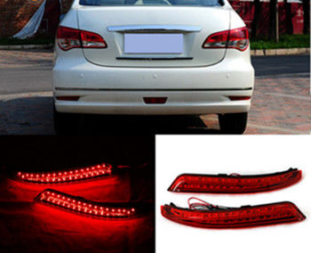 Red Waterproof Rear Bumper Light ABS Housing Material For Nissan Bluebird Sylphy